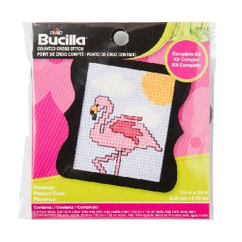 Beginner Mini Stitchery Kit - Flamingo