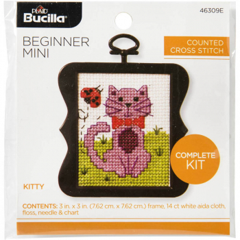 Beginner Mini Stitchery Kit - Kitty