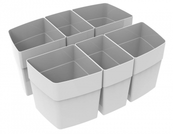 Gray Cups for Large Caddy (set of 6)