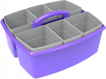 Large Purple Caddy with Gray Cups