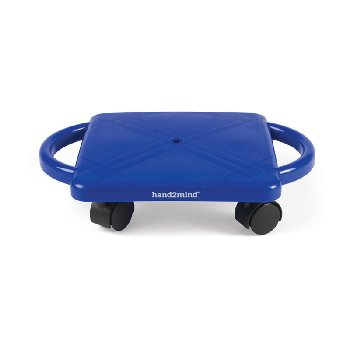 Plastic Scooter Board with Safety Handles: Blue