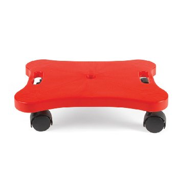 Plastic Scooter Board with Safety Handles: Red (Heavy Duty)