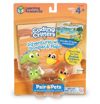 Coding Critters Pair-A-Pets: Romper & Flaps (Dinos)