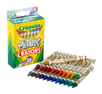 Crayola Metallic Crayons - 24 count