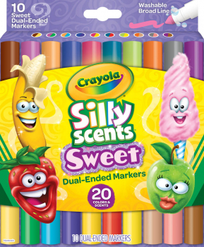 Crayola Silly Scents Double Doodlers - 10 count