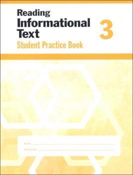 Reading Informational Text Grade 3 - Individual Student Workbook