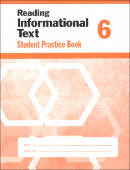 Reading Informational Text Grade 6 - Individual Student Workbook
