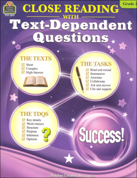 Close Reading with Text-Dependent Questions Grade 2