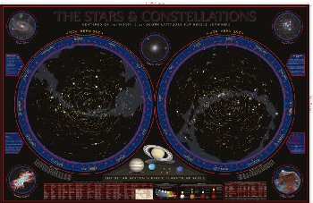 Wonders of the Constellations Space Chart