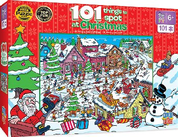 101 Things to Spot at Christmas Puzzle (101 piece)