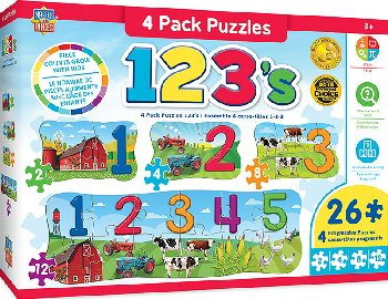 123's On the Farm Puzzles (4 pack)