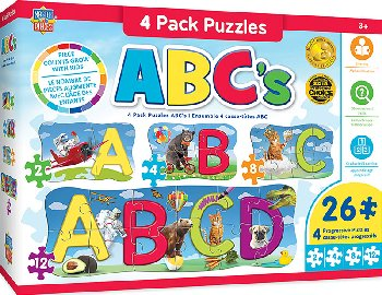 ABC's Puzzles (4 pack)