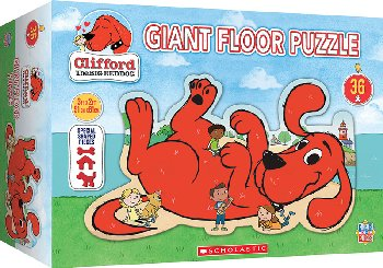 Clifford at the Beach Floor Puzzle (36 piece)