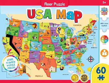 "USA Map Giant Floor Puzzle (36"" x 24"")"