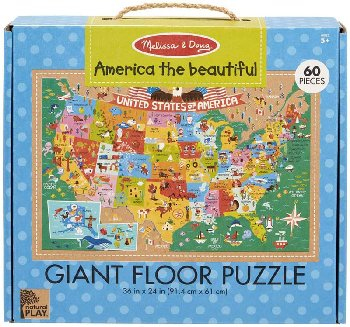America the Beautiful Giant Floor Puzzle - 60 piece (Natural Play)