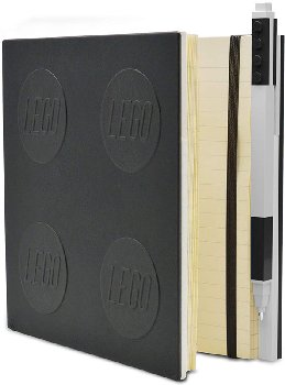 LEGO Locking Notebook with Gel Pen - Black