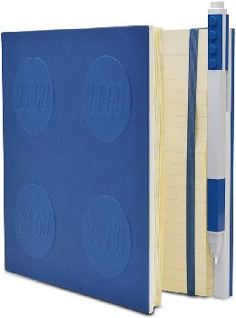 LEGO Locking Notebook with Gel Pen - Blue