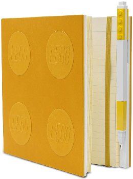 LEGO Locking Notebook with Gel Pen - Yellow
