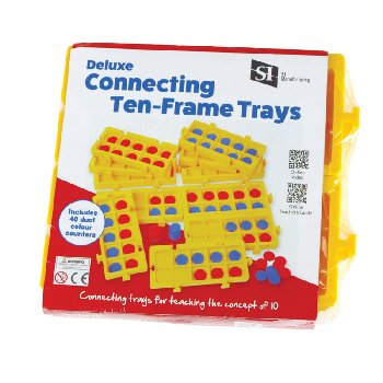 Deluxe Connecting Ten Frame Trays with Counters