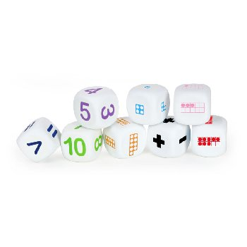 Math Dice (set of 8)