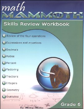 Math Mammoth Grade 6 Color Skills Review Workbook