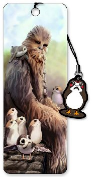 Star Wars 3D Bookmark: Chewbacca & Porgs