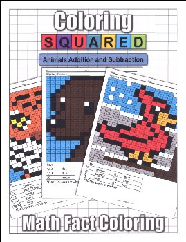 Coloring Squared: Animals Addition and Subtraction
