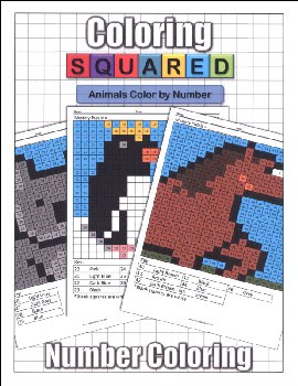 Coloring Squared: Animals Color by Number
