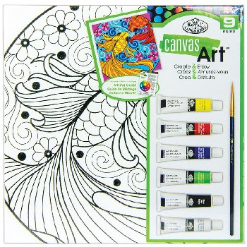 Canvas Art Painting Set - Fish