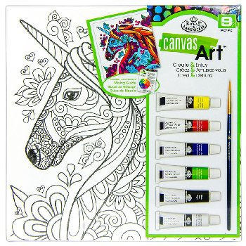 Canvas Art Painting Set - Unicorn
