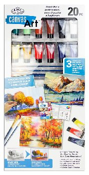 Canvas Art Set - Canyon, Autumn Trees, Trees