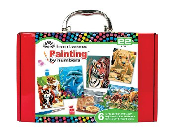 Mini Paint by Number Box Set (red)