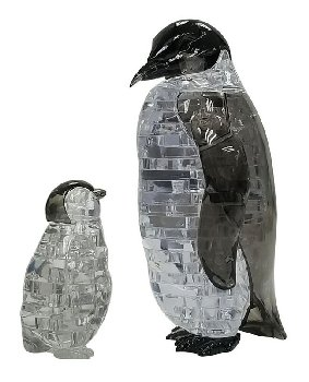 3D Crystal Puzzle - Penguin & Baby