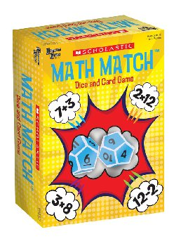 Scholastic Math Match Dice and Card Game