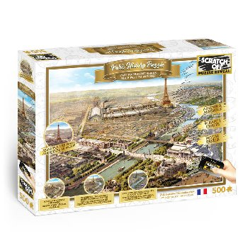 Scratch Off History Puzzle: Paris (500 piece)