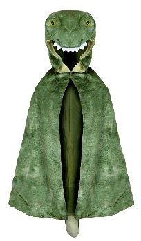 T-Rex Hooded Cape, size 4-5