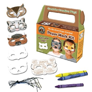 North American Animal Paper Mask Art Kit