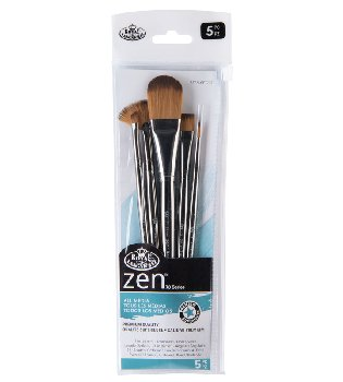 Zen Oval Wash Variety Paint Brush Set (5 piece)