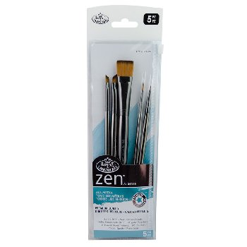 Zen SH Wash Variety Paint Brush Set (5 piece)