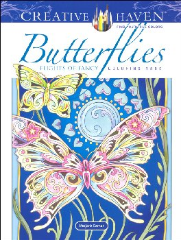 Butterflies: Flights of Fancy Coloring Book (Creative Haven)
