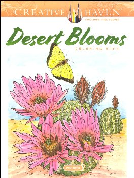 Desert Blooms Coloring Book (Creative Haven)