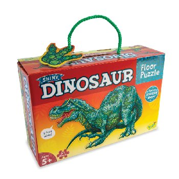 Shiny Dinosaur Shaped Floor Puzzle (51 pieces)