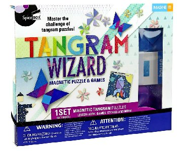 Tangram Wizard: Magnetic Puzzle & Games Kit