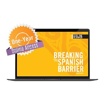 Breaking the Spanish Barrier Level 1 (Beginner) Digital Audio & Enhancements Online Access Code - 1 Year Subscription