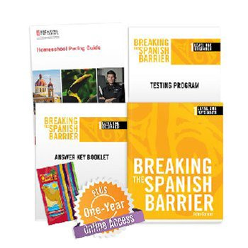 Breaking the Spanish Barrier Level 1 (Beginner) Homeschool Package + Digital Audio & Enhancements Online Access Code - 1