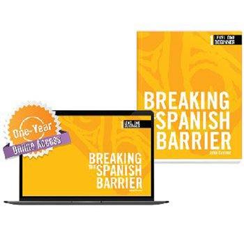 Breaking the Spanish Barrier Level 1 (Beginner) Student Book + Digital Audio & Enhancements Online Access Code - 1 Year