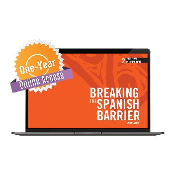 Breaking the Spanish Barrier Level 2 (Intermediate) Digital Audio & Enhancements Online Access Code - 1 Year Subscriptio