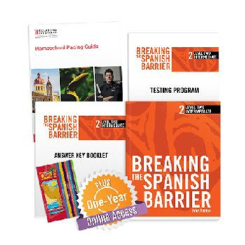 Breaking the Spanish Barrier Level 2 (Intermediate) Homeschool Package + Digital Audio & Enhancements Online Access Code