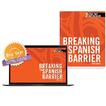 Breaking the Spanish Barrier Level 2 (Intermediate) Student Book + Digital Audio & Enhancements Online Access Code - 1 Y
