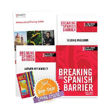 Breaking the Spanish Barrier Level 3 (Advanced) Homeschool Package + Digital Audio & Enhancements Online Access Code - 1